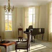客厅素雅窗帘欣赏