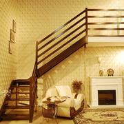 温馨色调楼梯装修大全