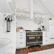 公寓白色干净厨房
