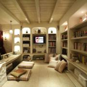 灰色调书房效果图片