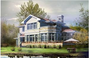 两层农村别墅设计装修效果图