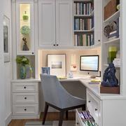 书房转角整体书柜