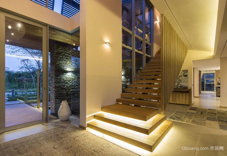 现代豪华别墅楼梯装修效果图