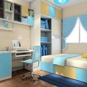 儿童卧室彩色衣柜