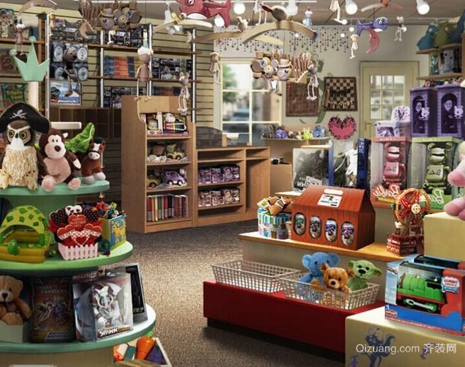时尚毛绒玩具店面装修设计效果图