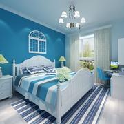 蓝色梦幻卧室图片