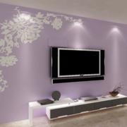 紫色浪漫的背景墙