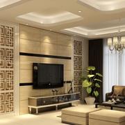 米白色的电视背景墙