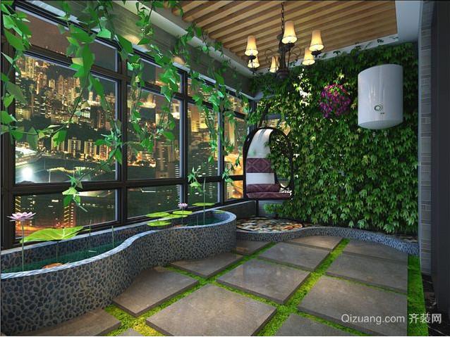 简欧露台花园设计装修效果图