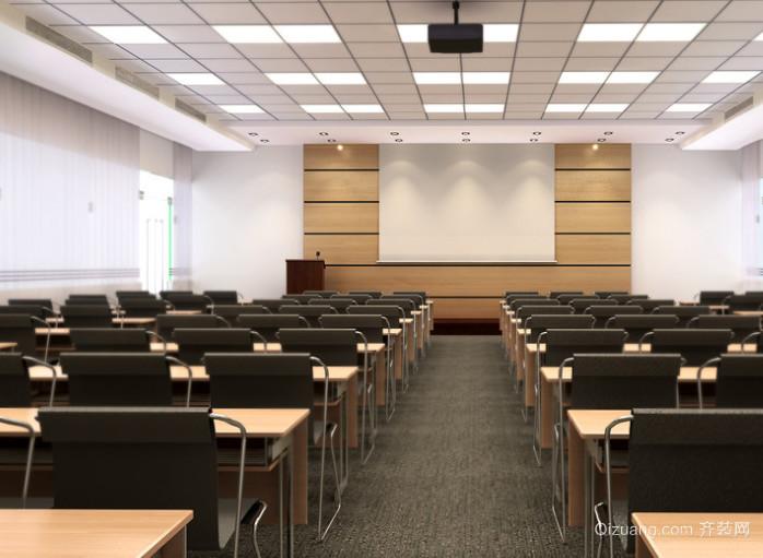 现代简约大型会议室装修效果图
