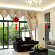清新型客厅窗帘设计