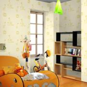 黄色精巧的儿童房