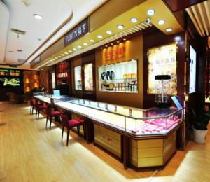 珠宝店玻璃展示柜装修设计效果图