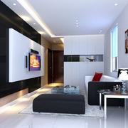 黑色色调的客厅