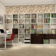 书房一字型书桌
