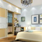 明亮黄色卧室衣柜