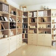 复式楼木质书柜