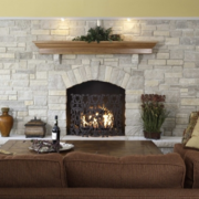 新款设计的客厅炉火设计