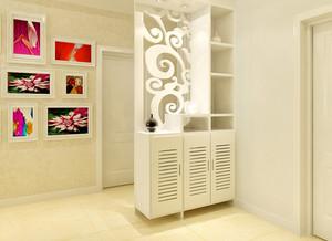 80平大户型客厅中式进门玄关鞋柜效果图展示
