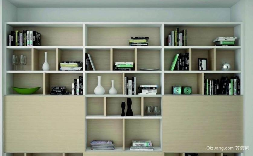 120㎡复式楼书柜装修效果图