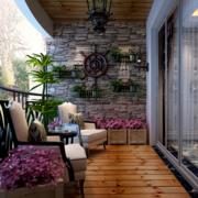 复式楼阳台生态木地板