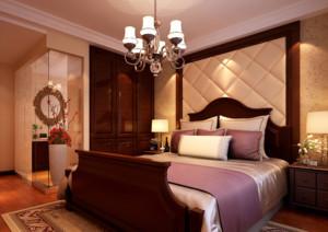 欧式卧室软包床头背景墙装修效果图