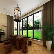 传统型客厅地板砖