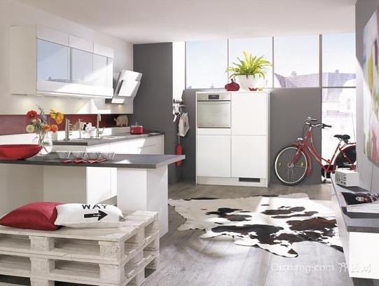 简欧风格家居开放式厨房装修效果图