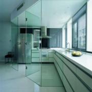 厨房玻璃隔断墙欣赏