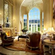 复古欧式别墅客厅