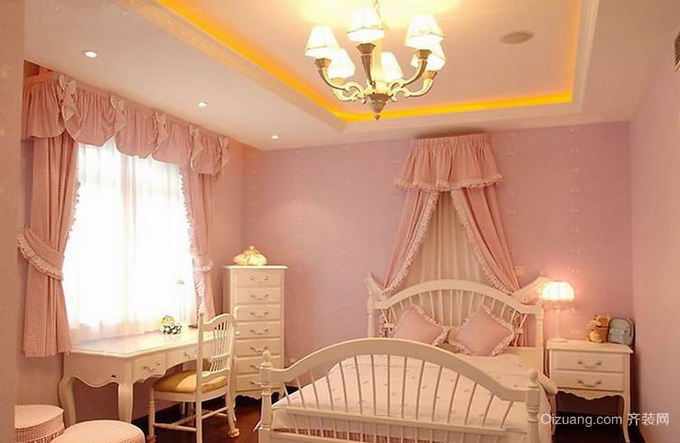 欧式甜美女生儿童房装修效果图