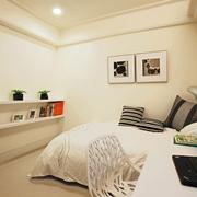 现代白色书房卧室