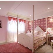 甜美粉色儿童房