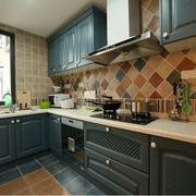 厨房地板砖橱柜设计