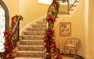 大户型田园风格室内楼梯设计装修效果图