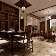 中式餐厅餐桌椅
