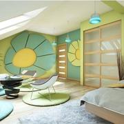 温馨绿色卧室衣柜