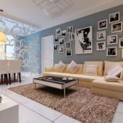 创意新颖的客厅照片墙