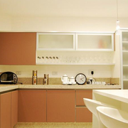温馨色调厨房装修图片