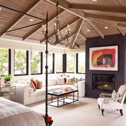 现代美式客厅欣赏