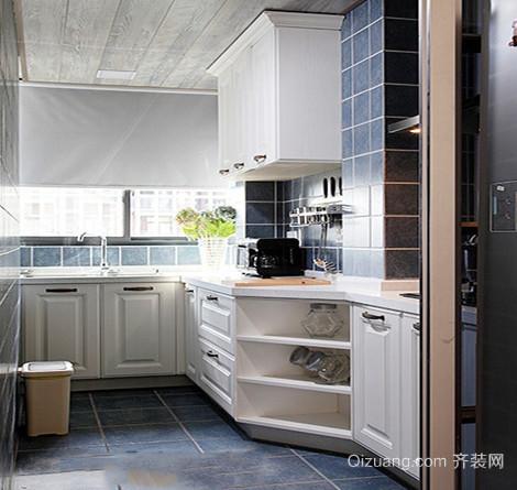 大洋彼岸110㎡欧式风格厨房设计装修效果图