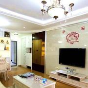 韩式新古典混搭客厅背景墙