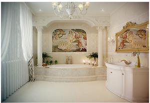 欧式奢华古典的卫生间装修效果图