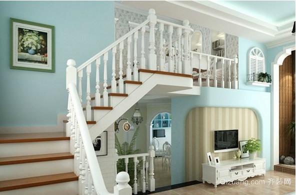 地中海楼梯装修设计效果图