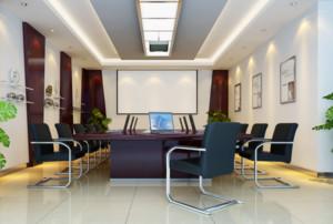 30平小型办公室装修实景效果图