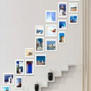 创意复式楼楼梯照片墙