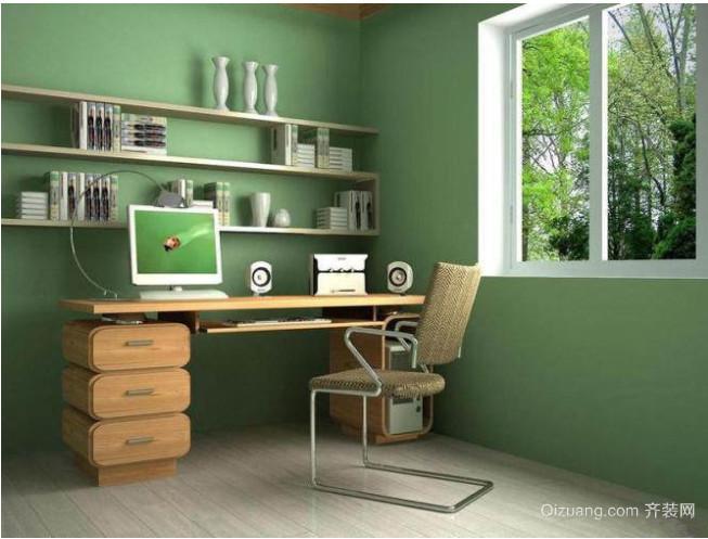 现代简约小书房装修设计效果图