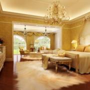 黄色温馨的卧室