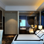 现代前卫的卧室