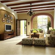 复古优雅型美式田园客厅